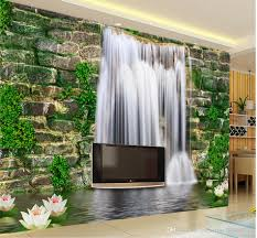 Small Picture Fashion 3d Home Decor Beautiful Stone Wall Waterfall 3d Tv Wall 3d
