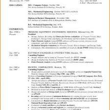 Sample Resume For Experienced Mechanical Design Engineer New Resume