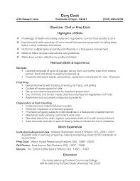 Sample Grill Cook Resume Cook Resume Sample Luxury Prep Cook Resume Examples Sample Resume