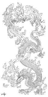 эскиз тату феникс и дракон татуировку рф фото и эскизы