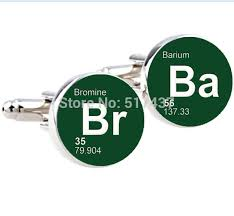 40Pair Breaking Bad Cufflinks Silver Plated Br Ba Cuff Links Best Ba Quote