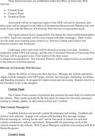 Proposal To Establish The Office Of University Web Services