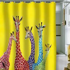 Giraffe Bathroom Decor Kids Shower Curtains Free Image