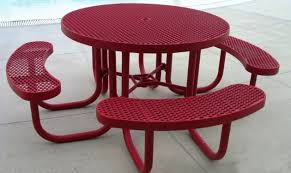 4 round portable picnic table burdy