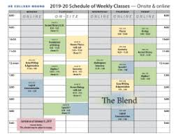 Hs College Bound Schedule Of Classes At The Blend