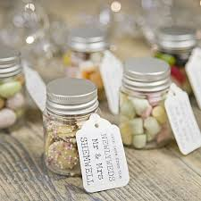 best 25 wedding favour sweets ideas on pinterest traditional Nice Wedding Giveaways personalised wedding favour sweetie jar beautiful wedding giveaways