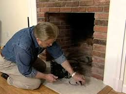 how to put in a gas log set for a fireplace