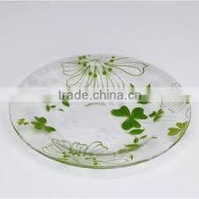 ce eu fda sgs lfgb high quality decorative glass plate round