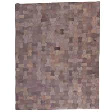 patchwork leather cowhide rug motstone 140x200cm 1