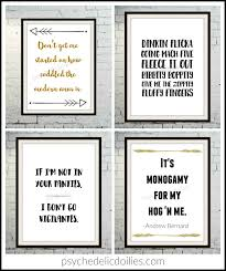 Funny Office Quotes Amazing The Office Printable Art Quotes Psychedelic Doilies