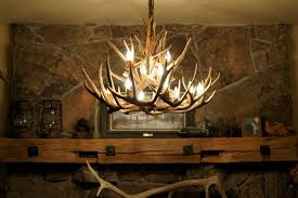 diy deer antler chandelier
