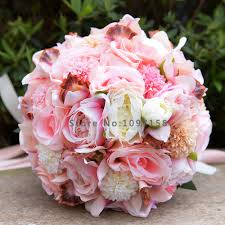 Us 45 0 Pack With Box Gorgeous Artificial Flowers Rosette Wedding Bouquets 2017 Bridal Bridesmaid Bouquet Wedding Accessories Decoration In Wedding