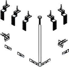 <b>Комплект креплений</b> для 3-го экрана <b>CZR</b>-<b>SCR</b>-<b>FIX</b>-3-<b>KIT</b> в ...