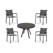 aluminum dining room chairs. Lloyd Flanders Lux Sling Dining Chair \u0026 Round Table Aluminum Room Chairs