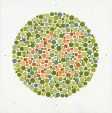 Colour Blindness Chart An Ishihara Chart For Testing Colour Blindness C 1959 By