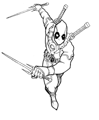 Small Picture Deadpool Coloring Images Printable Coloring Pages anduus