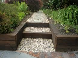 Garden Design Ideas With Railway Sleepers Sleepers In Garden Sloped Garden Garden Stairs Sleepers