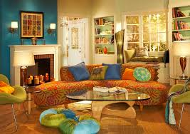 teal brown and yellow living room thecreativescientist com