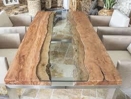 Der Tischonkel Designertisch Massivholztisch Mit Glas Und Edelstahl