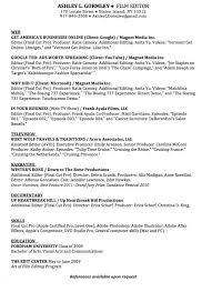 film editor resume