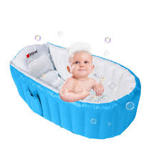 baby kids pvc bath tub washbowl toddler inflatable bathtub