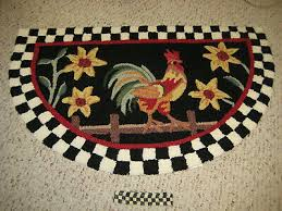 new rooster check border rug and mackenzie childs courtly check ribbon 1 yd