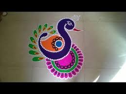 Small Picture Easy small and unique peacock rangoli Innovative rangoli