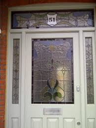 image of stained glass door designs front door hummingbird and flowers stained glass door window