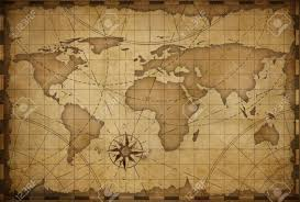 Map Of The World Background Old Nautical Vintage World Map Theme Background Stock Photo Picture