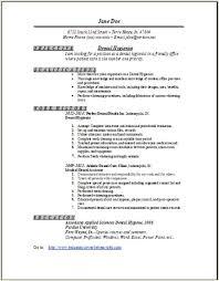 Resume Format For Dentist Pdf Resume Template Easy Http Www