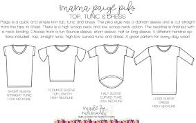 Womens Paige Piko Top Tunic Dress Sewing Patterns For Kids