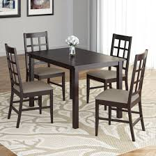 Corliving Atwood 5pc Dining Set With Taupe Stone Leatherette Seats