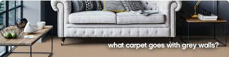what carpet goes with grey walls