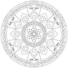 Easy Mandalas To Color Running Downcom