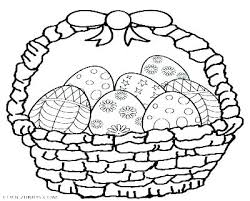 Coloring Page Egg Printable Pages Eggs Footage Easter Basket With