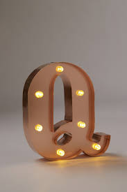 Midi Marquee Letters Premium, ROSE GOLD Q