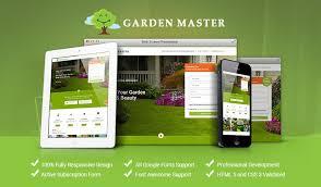 Garden Website Template Responsive Gardening HTML Template Enchanting Garden Web Design Design