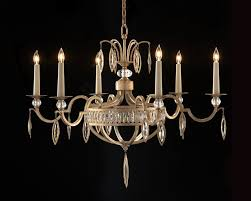 marquise crystal six light chandelier