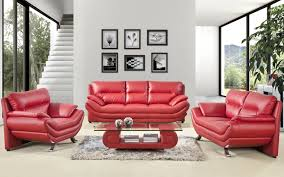 latest sofa red color design with small rugs under modern glass table and picture in white wall decorating ideas