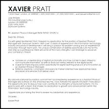 Cover Letter For Product Manager Position Assistant Product Manager Cover Letter Sample Cover Letter
