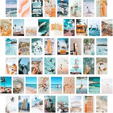 CY2SIDE 50PCS Blue Aesthetic Picture ...