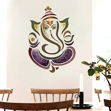 on ganesh wall art uk with indian hindu elephant god ganesh uk wall sticker