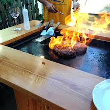 hibachi grill table home design ideas and outdoor teppanyaki built in