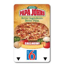 papa johns gift card check balance