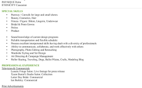 Unusual Resume For Models Contemporary Resume Ideas Namanasa Com