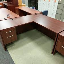 l desk office. Maverick L Shaped Chestnut Office Desk Corner Desks \u2013 Like New,