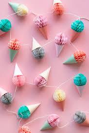 paper ice cream garland