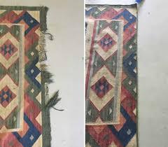 Oriental Rug Repairing - Kansas City Rug Cleaning and Repair & Before and after of a side chord repair on a jute rug Adamdwight.com