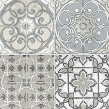 moroccan tile taupe wallpaper