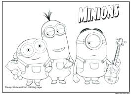 Minion Color Sheet Coloring Sheets Luxury Minions Book Images